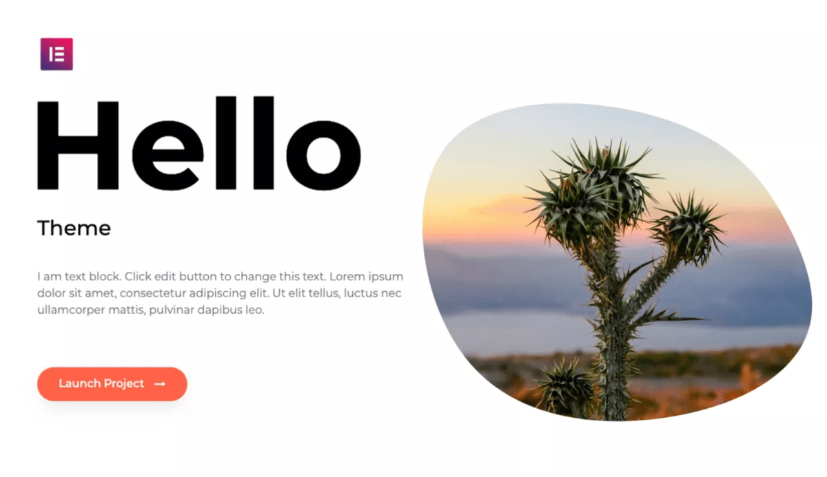 Elementor Launches Hello Theme on WordPress.org